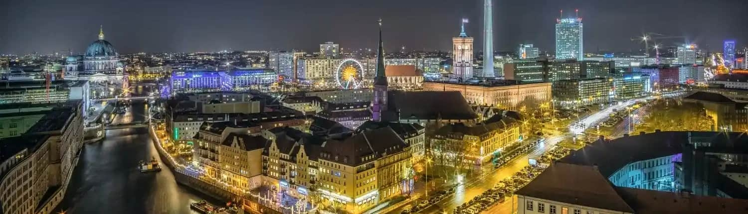 Night view on Berlin; Pronto delivers excellent language translation service